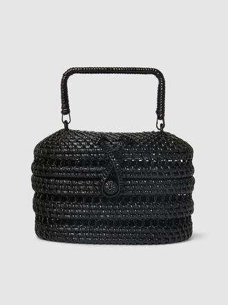 Cult Gaia - Cylindrical Woven Box Bag