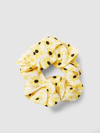 Ganni - Floral-Print Crepe Scrunchie