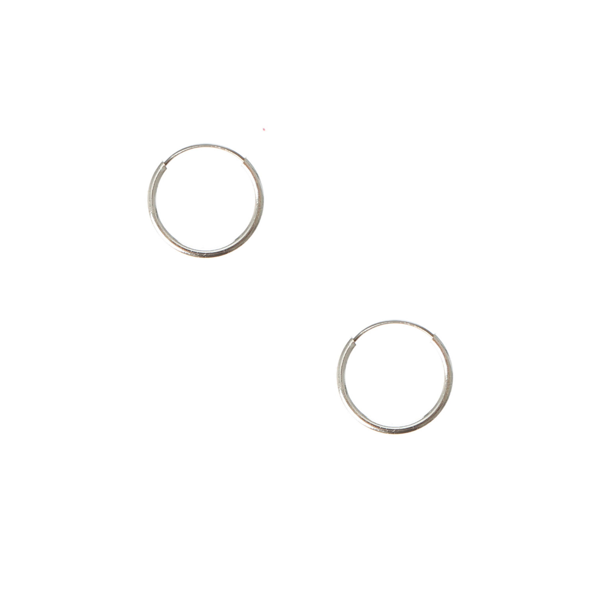 Silver 10MM Hoop Earrings