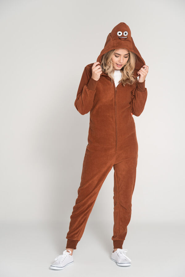 poop emoji onesie for adults
