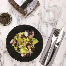 Green lentil salad with seaweed tartare, cockles and avocado Recipe from La Grande Épicerie de Paris