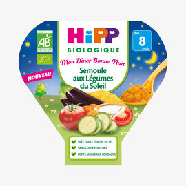 A wholesome organic main meal for babies and toddlers: Coucous with Mediterranean vegetables HiPP