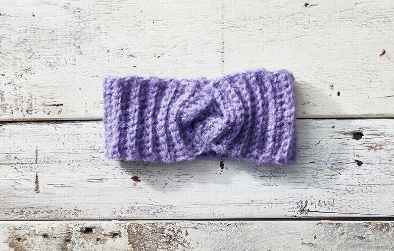 Cozy Twisted Crochet Headband pattern
