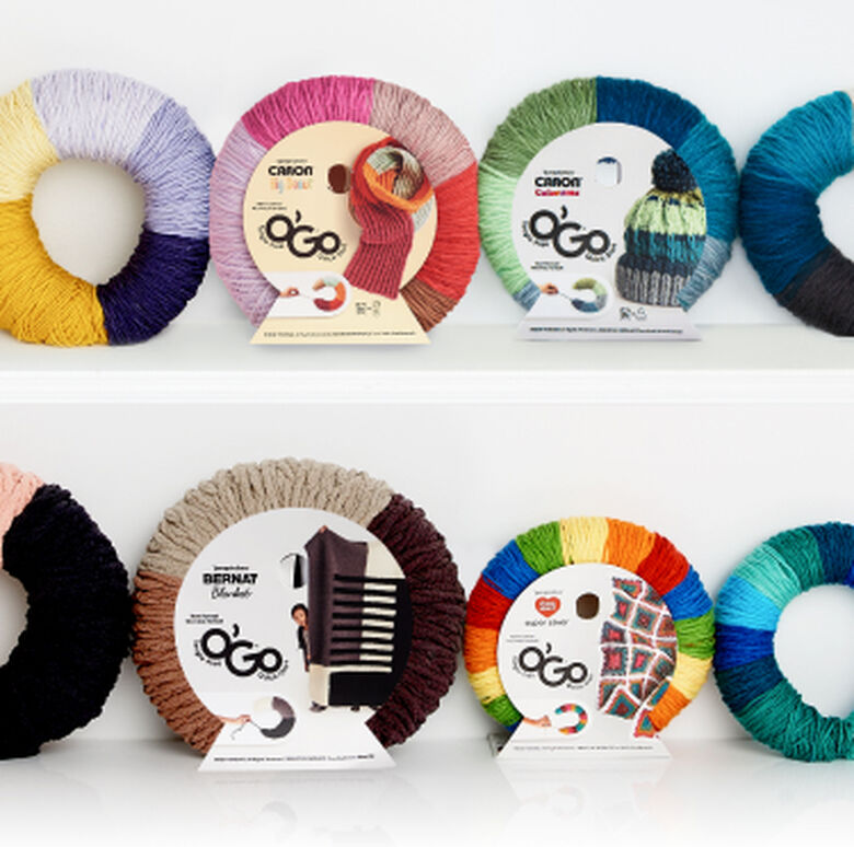 O'Go Yarn banner with different shades