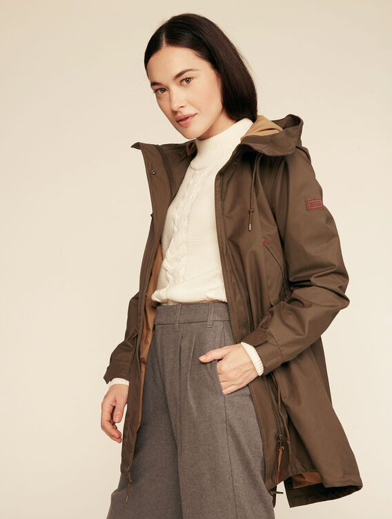Versatile long fishtail parka