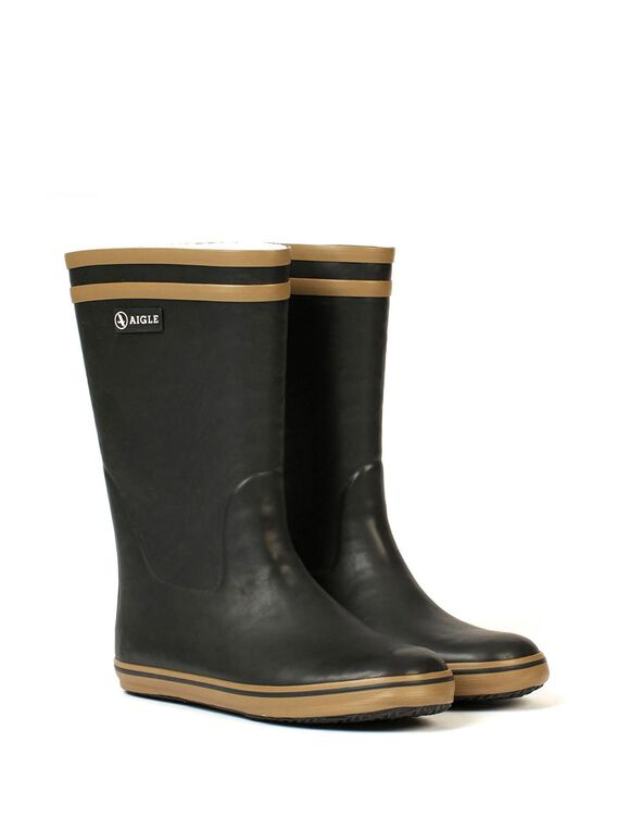 Children's fur-lined rubber boots