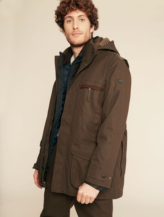 3-in-1 waterproof hunting parka