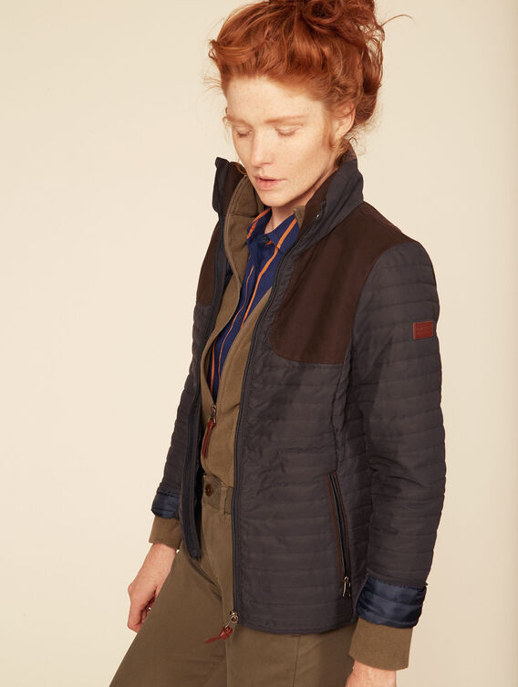 Hunting-inspired padded jacket