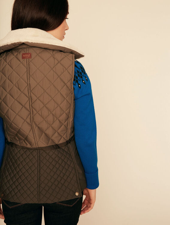 Water-repellent quilted bodywarmer