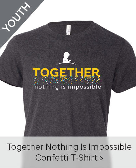 Click here to purchase the Youth Together Nothing Is Impossible Confetti T-Shirt