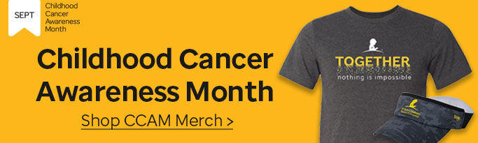 Click here to shop St. Jude childhood cancer awareness month merchandise.