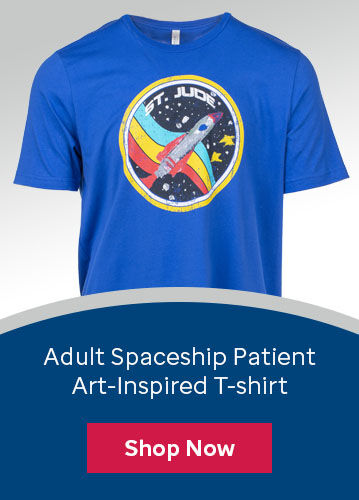 Click here to purchase the adult t-shirt inspired by St. Jude patient Colton's artwork