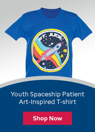 Click here to purchase the youth t-shirt inspired by St. Jude patient Colton's artwork