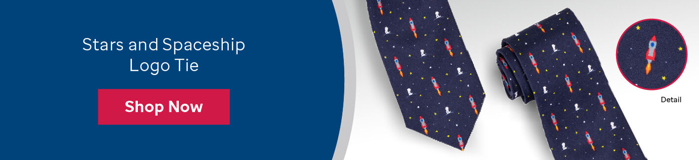 Buy the patient art inspired stars and spaceships tie