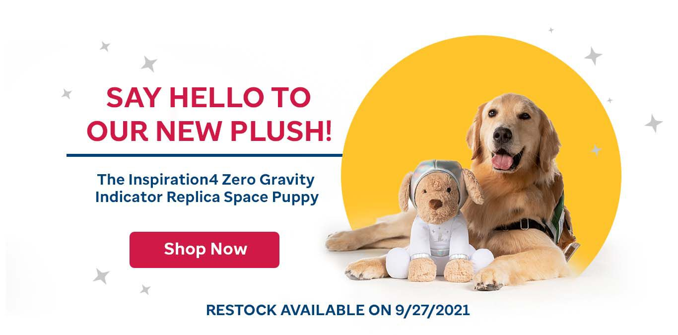 Say hello to our new plush! The inspiration4 Zero Gravity Indicator Replica Space Puppy. Click here to buy.