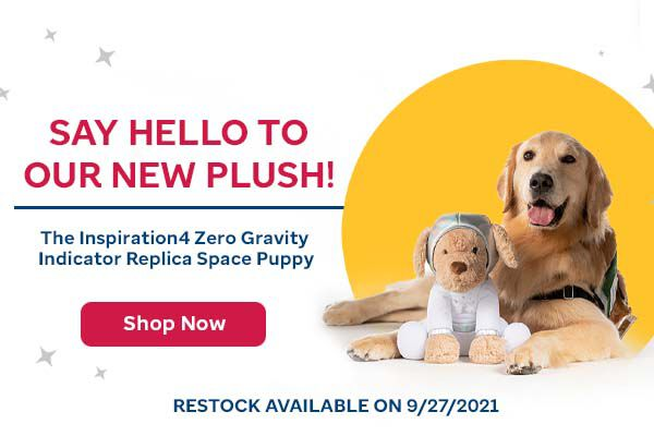 Say hello to our new plush! The inspiration4 Zero Gravity Indicator Replica Space Puppy. Click here to buy