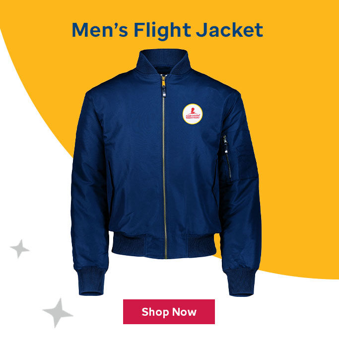 Click here to purchase the Men's flight jacket