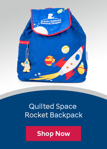 Click here to purchase the quilted space rocket backpack