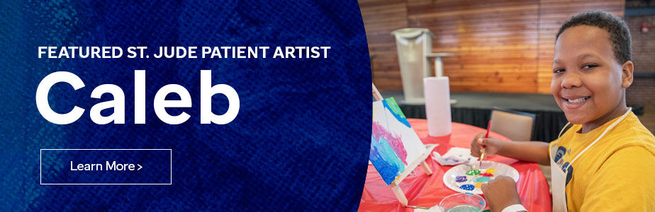 Click here to learn more about the featured St. Jude patient artist, Caleb.