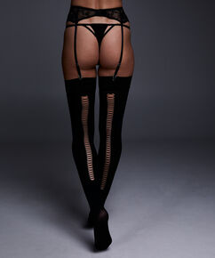 Stocking private 50 denier corsetry, Zwart
