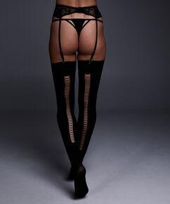 Stocking private 50 denier corsetry, Zwart