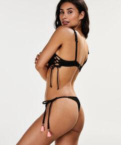 Bikini Croptop Tied Down, Zwart
