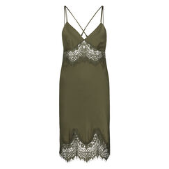 Slipdress Satin Lace, Groen