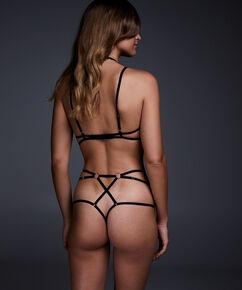 Hoge string Maud, Zwart