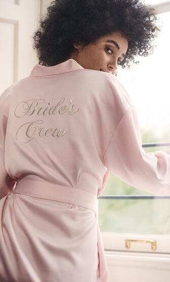 Kimono Satin Brides Crew, Roze