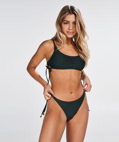String bikinibroekje Tied Down, Groen