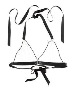 Bralette chain Top, Zwart