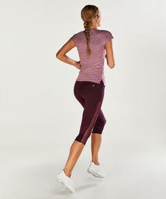 HKMX sportshirt met korte mouwen slim fit, Paars