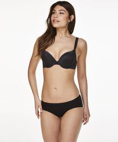 Superslip rio bikini katoen, Zwart