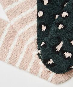 2 Paar Cosy Socks, Groen