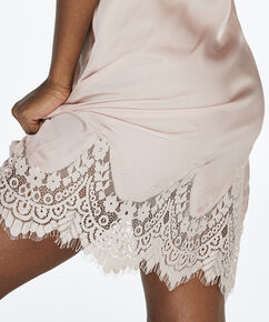 Slipdress Satin Lace, Roze