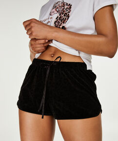 Short Velours, Zwart