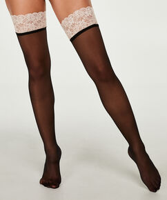 Stocking 20 Denier Lace, Roze