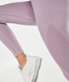 HKMX high waist sport legging roundknit, Paars