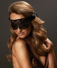 Private blindfold lace, Zwart