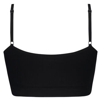 Naadloze strappy top, Zwart