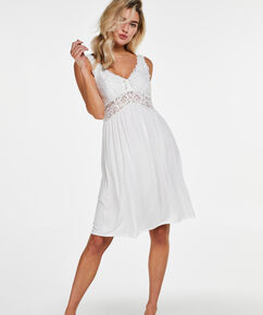 Slipdress Modal lace, Wit