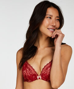 Voorgevormde push-up beugel bh Theresa, Rood