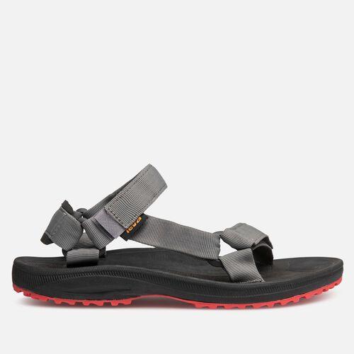 Teva Men's Winsted Solid Sandals in Black/Red, Size 7