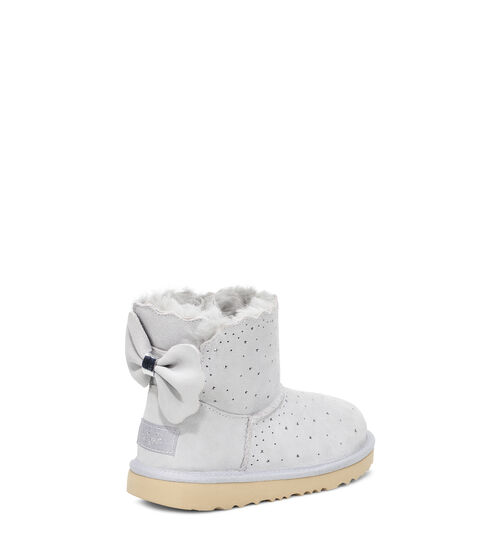 UGG Mini Bailey Bow II Starry Lite Bottes en Grey Violet