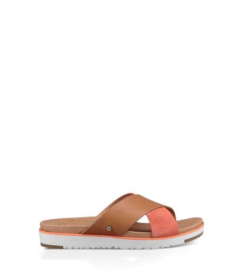 Women's Footwear UGG Women's Kari Slide in Fusion Coral, Size 3, Leather