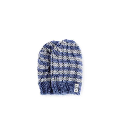 UGG Chunky Stripe Knit Gants en Ensign Blue