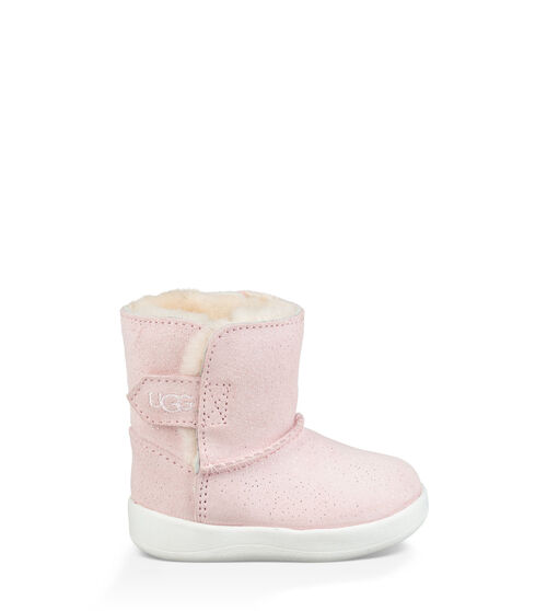 UGG Keelan Sparkle Bottes Détente pour Bébés en Baby Pink, taille 18   Suède