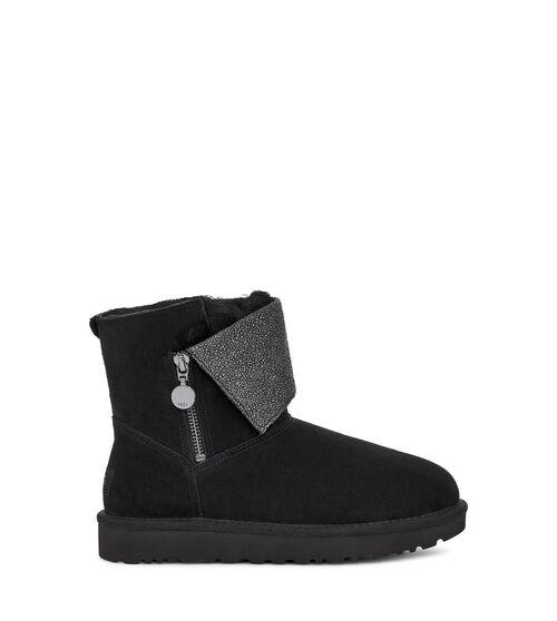 Women's Footwear UGG Women's Classic Caviar Mini Boot in Black, Size 10, Shearling