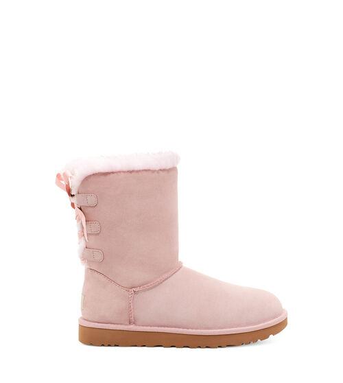 UGG Short Bow Bottes pour Femmes en Pink Crystal