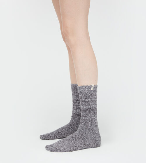 Women's Accessories UGG Women's Rib Knit Slouchy Crew Sock in Nightfall